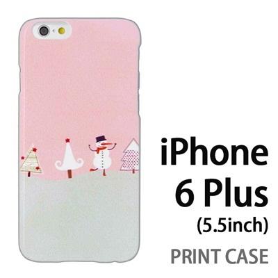 iPhone6 Plus (5.5インチ) 用『1218 ノリノリ雪だるま 紫』特殊印刷ケース【 iphone6 plus iphone アイフォン アイフォン6 プラス au docomo softbank Apple ケース プリント カバー スマホケース スマホカバー 】の画像