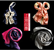 [Story of Shanghai] New Arrival 100% satin Silk multifunction Scarf Korean style neck head decoration on waist hair on hat or handbag
