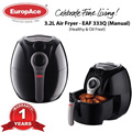 Europace Large Air Fryer with Handle 1kg (3.2L) - ( EAF 333Q ) - 1 year warranty