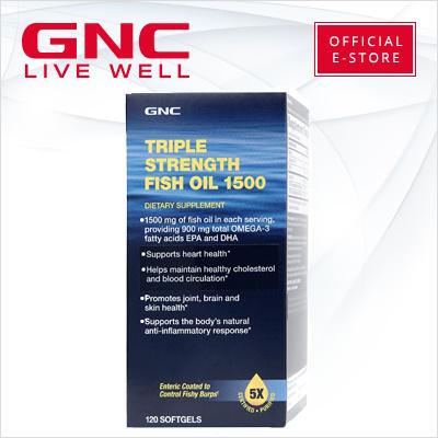 Qoo10 gnc triple strength fish oil 1500 120 softgels for Gnc triple strength fish oil 1500