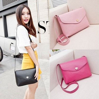 HEART PURSE - KOREAN SIMPLE MINI SLING BAG - TAS SELEMPANG WANITA 751bbcbca5