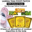 Lanna Thai Natural Detox Foot Patch/Improve Sleep and Daily Activities/8 hours of adsorption of resi