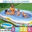 送料無料 ビニールプール INTEX (インテックス) 家庭用プール 262x160cm 56490 (プール 子供用プール 大型 ファミリープール レジャー用品)