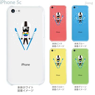 【iPhone5c】【iPhone5c ケース】【iPhone5c カバー】【ケース】【カバー】【スマホケース】【クリアケース】【クリアーアーツ】【スキージャンプ】 10-ip5c-ca0087の画像