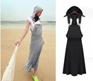 [送料無料]大人気新作!セール!カジュアルなタンクトップドレス、つりスカート、ロングスカート、ゆったりドレス、ワンピース、カートMM28