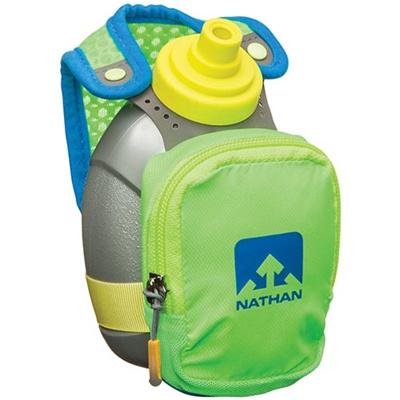 ネイサン(NATHAN) QuickShot Plus B61337000 G.GR/N.BL/C.YL 300ml 【ランニング ジョギング ウォーキング ハンドボトル 軽量】の画像