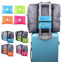旅行 バック 小さく たためるので 荷物が増えても大丈夫 スーツケース の持ち手に通せる トラベル バッグ