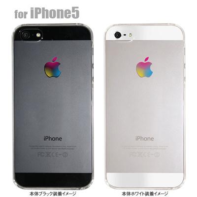 【iPhone5S】【iPhone5】【Clear Arts】【iPhone5ケース】【カバー】【スマホケース】【クリアケース】【カラーアップルマーク】 06-ip5-ca0029の画像