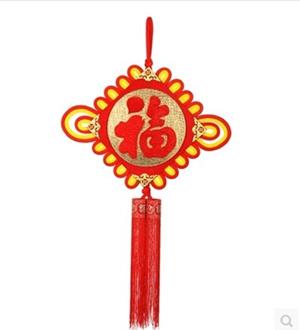 拉姆大的金色边框祝福哈登新上市的新春节中国结装饰