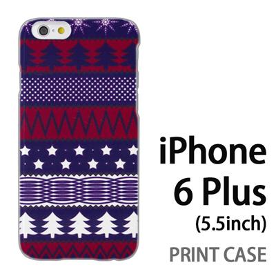 iPhone6 Plus (5.5インチ) 用『1218 もみの木ストライプ 赤紫』特殊印刷ケース【 iphone6 plus iphone アイフォン アイフォン6 プラス au docomo softbank Apple ケース プリント カバー スマホケース スマホカバー 】の画像