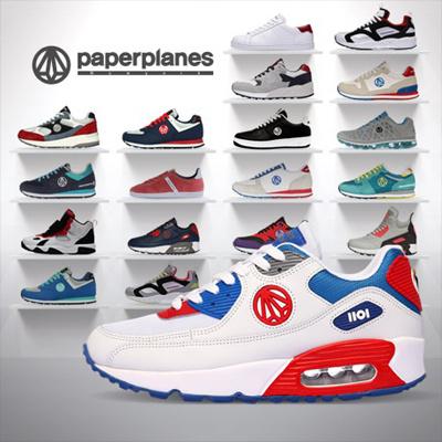 送料無料◆Paperplanes PP1101 Line エアクッションスニーカー /スニーカー/ランニングシューズスポーツ
