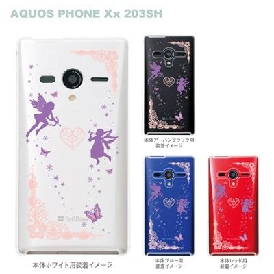【AQUOS PHONEケース】【203SH】【Soft Bank】【カバー】【スマホケース】【クリアケース】【クリアーアーツ】【天使】 09-203sh-fp0003の画像