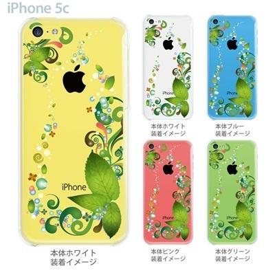 【iPhone5c】【iPhone5c ケース】【iPhone5c カバー】【iPhone ケース】【クリア カバー】【スマホケース】【クリアケース】【イラスト】【フラワー】【葉】 06-ip5cp-ca0082の画像