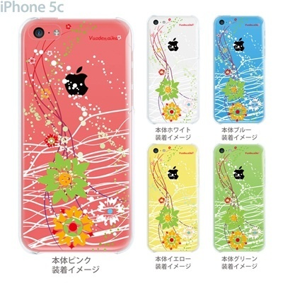 【iPhone5c】【iPhone5cケース】【iPhone5cカバー】【ケース】【カバー】【スマホケース】【クリアケース】【フラワー】【vuodenaika】 21-ip5c-ne0031caの画像