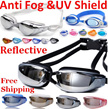 Free shipping!Reflective/Anti fog/UV shield/Adult/kids Swimming goggles/Diving goggle/swimming trunk