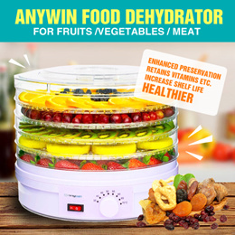 Anywin Healthy Food Dehydrator For Fruit Vegetables and Meat / GDA-Food Preserver/ Multi-Tiered