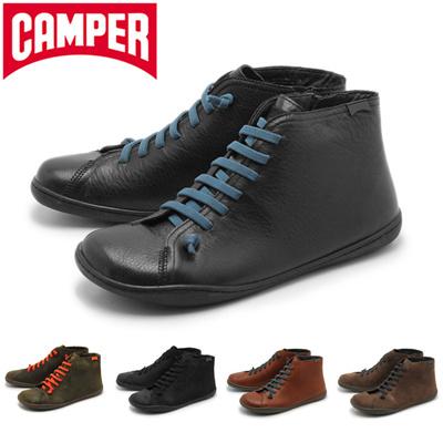 カンペール ペウ カミ CAMPER PEU CAMI メンズ ハイカット サイドジップ シューズ レザー カジュアル  スニーカー 靴の画像