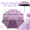 Magic Blossom Flowers UV Umbrella / UV adsorption Layer for Maximum UV protection / Protect you from RAIN and SHINE / Strong and Light Weight / Cute and Colorful / Rainbow design