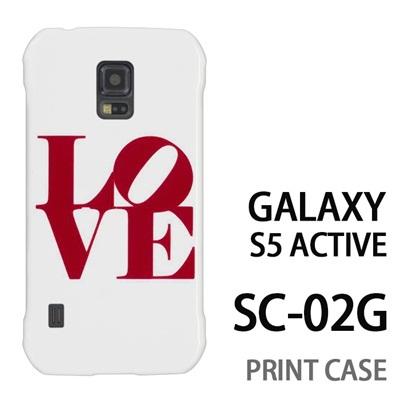 GALAXY S5 Active SC-02G 用『0621 love レッド』特殊印刷ケース【 galaxy s5 active SC-02G sc02g SC02G galaxys5 ギャラクシー ギャラクシーs5 アクティブ docomo ケース プリント カバー スマホケース スマホカバー】の画像