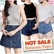 ◆NEW! CRAZY SALE!High waist denim shorts/skirt/jeans/knit top/crop top◆ALA TREND◆Premium High Waist Skirts/High Quality Skirts/Denim