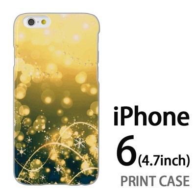 iPhone6 (4.7インチ) 用『0111 舞い降りる雪 緑』特殊印刷ケース【 iphone6 iphone アイフォン アイフォン6 au docomo softbank Apple ケース プリント カバー スマホケース スマホカバー 】の画像