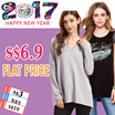 CNY PROMO  s$6.9 Flat Price Collection Plus size Promote  S-7XL dress /dresses/tops/blouse/shorts