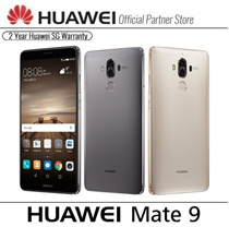 ★READY STOCKS★Huawei Mate 9 Co-Engineered with Leica 64GB ROM/4GB RAM/5.9 FHD Display/Kirin 960 64-bit 8 Core/12MP+20MP Camera/4G+3G Dual Sim/Fingerprint ID/NFC/Android 7.0/2 Years Huawei SG Warranty