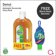 [RB] Dettol Antiseptic Liquid 1L Twin Pack + 750ml FOC