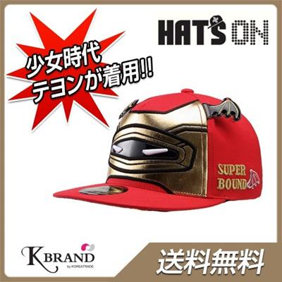 【送料無料】【国内発送】キャップ SUPER BOUND FITTED CAP 134 (RED) ◆少女時代着用帽子★ ヘッツオン ケイブランド HATSON hatson haton HAT`ON  ハッツオン hat`s on hat`son  k-brand ブランド品 韓国商品館  帽子 hats on KBRANDの画像