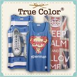 [Design By Korea]New design Sleeveless Long T-shirtTrue Color Short Unique printing High quality cotton Women T-shirt etc