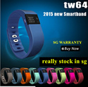 TW64 Smart Bracelet Smartband Wristband Fitness Band Bluetooth Smartwatch Sleep Tracker Like Fitbit Charge Flex XiaoMI Band Garmin Jawbone Gear Fit Sony SWR10 Razer Nabu [6 Months Warranty]