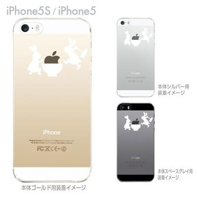 【iPhone5S】【iPhone5】【iPhone5sケース】【iPhone5ケース】【カバー】【スマホケース】【クリアケース】【クリアーアーツ】【ウサギの餅つき】 06-ip5s-ca0025の画像