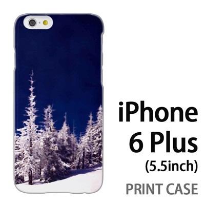 iPhone6 Plus (5.5インチ) 用『1218 雪原のもみの木』特殊印刷ケース【 iphone6 plus iphone アイフォン アイフォン6 プラス au docomo softbank Apple ケース プリント カバー スマホケース スマホカバー 】の画像