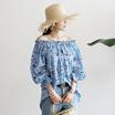 [送料無料]★韓国ファッション通販業界1位 『Naning9』★守屋オフショルダーブラウス/ おしゃれなシルエットのファッションコーデー提案!ハイクォリティー/韓国ファッション/オフィスルック/ レ