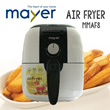 [SUPER Time Sale!] Mayer Air Fryer MMAF8 - 80% Less Fat Healthier Cleaner - 1 Year Warranty