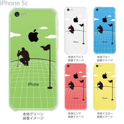 【iPhone5c】【iPhone5c ケース】【iPhone5c カバー】【ケース】【カバー】【スマホケース】【クリアケース】【クリアーアーツ】【ゴルフ】 10-ip5c-0075の画像