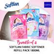 [G-DYNA] [Bundle of 4] Softlan fabric softener refill pack 1700/1800ml -  6Types