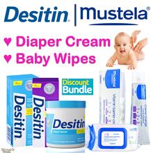 FAST DELIVERY! ★DESITIN | MUSTELA★ Baby Diaper Rash | Change Cream | Baby Wipes. Best Value bundle.