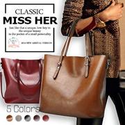 【FREE QXPRESS】【Premium Quality】★Oil Leather Tote Bag / Lady Bag / Buckle Bag / Working Bag / Big Bag