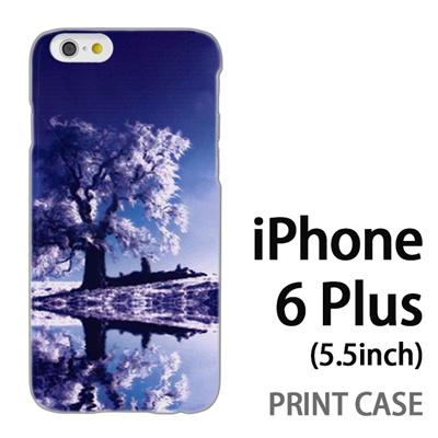 iPhone6 Plus (5.5インチ) 用『1218 雪原の木』特殊印刷ケース【 iphone6 plus iphone アイフォン アイフォン6 プラス au docomo softbank Apple ケース プリント カバー スマホケース スマホカバー 】の画像
