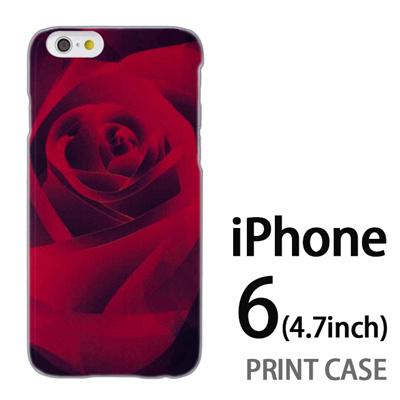 iPhone6 (4.7インチ) 用『0111 薔薇アップ 赤』特殊印刷ケース【 iphone6 iphone アイフォン アイフォン6 au docomo softbank Apple ケース プリント カバー スマホケース スマホカバー 】の画像
