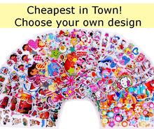stickers kids Cartoon Stickers goodie bag Frozen stickers Pororo pokemon Peppa Pig Little Pony