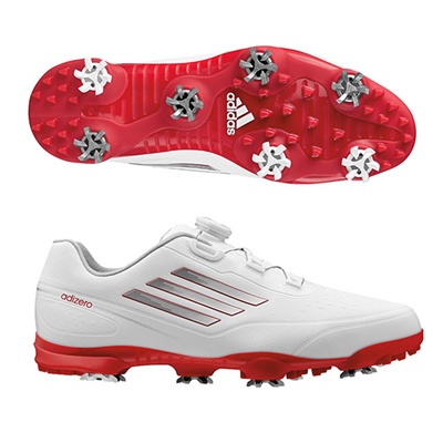 アディダス (adidas) adizero prime Boa WD(ホワイト×シルバーメタリック) Q44817 [分類:ゴルフシューズ スパイク (メンズ)] 送料無料の画像