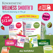 Kinohimitsu Cleanse n Beauty (with collagen) / Cleanse n Boost(with wheatgrass) 15s [Beauty/Health]