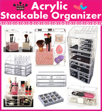 Acrylic Stackable cosmetics orangnizer~Free lipstick~ tool Makeup Storage Organizer jewelry brush