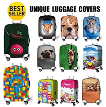 [ORTE] Sale! Unique High Quality Elastic Luggage Cover Protector * NO MORE SEARCHING ON BELT * Travel Organisers * PROMO ON: Free Luggage Tags and Travel Pouch * TSA Locks *
