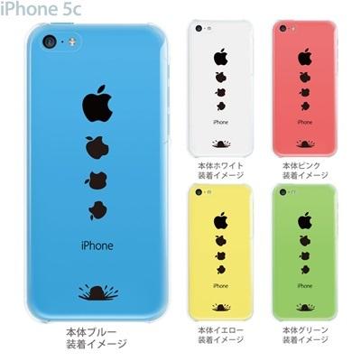 【iPhone5c】【iPhone5cケース】【iPhone5cカバー】【ケース】【クリア カバー】【スマホケース】【クリアケース】【イラスト】【クリアーアーツ】【落ちるアップルマーク】 10-ip5cp-ca0010の画像