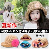 Sj613キッズファッション おすすめ!超人気子供帽子!可愛いリボン付け帽子・/児童帽子/ストライプ猫耳麦わら/リボンドット帽/キャップ・ドット・リボン・帽子/日除け帽・hat/cap