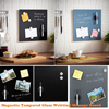 Magnetic Tempered Glass Writing Message Board / Memo Board / DIY Board/ Message Board Stationery White Board Bulletin Noticeboard