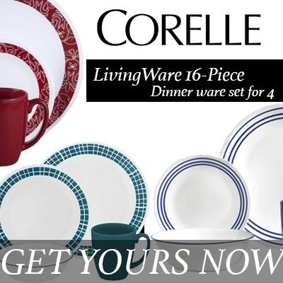 Qoo10 16 Pcs 20 Pcs Corelle Livingware Dinnerware Set For 4 Home Kitc